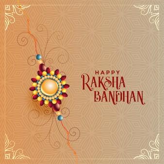 Raksha artístico bandhan festival indio