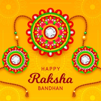 Raksha bandhan con decoración colorida