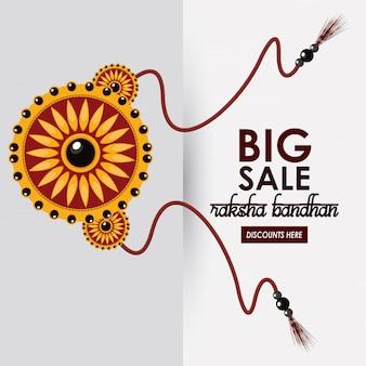 Raksha bandhan gran plantilla de venta