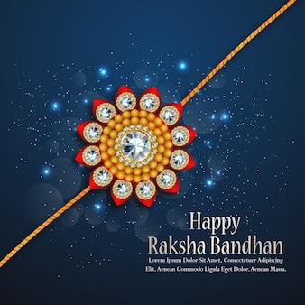 Raksha bandhan greeting card design para happy raksha bandhan