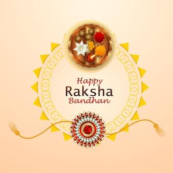 Raksha bandhan realista con rakhi creativo