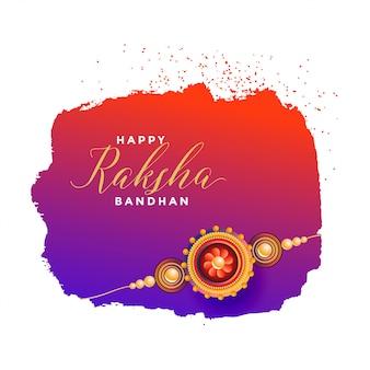 Raksha bandhan tarjeta de felicitación
