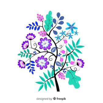 Rama floral diseño plano