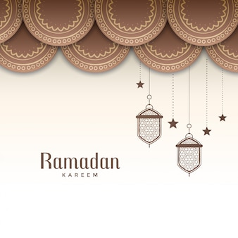 Ramadán decorativo kareem saludo de fiesta