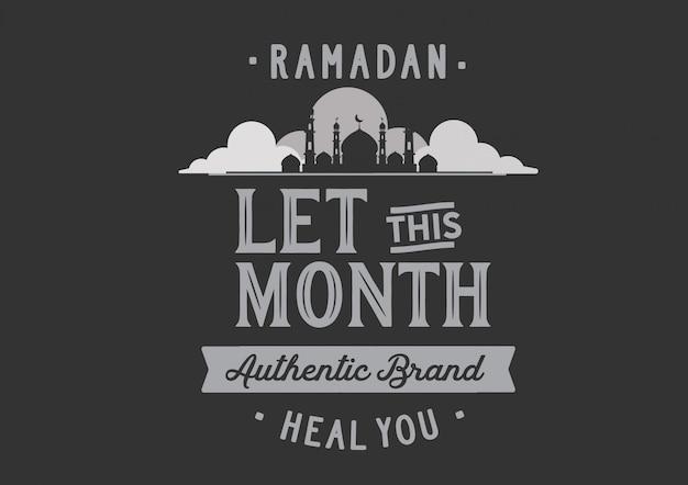 Ramadán deja que este mes la auténtica marca te cure.