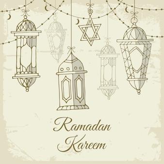 Ramadán dibujado a mano