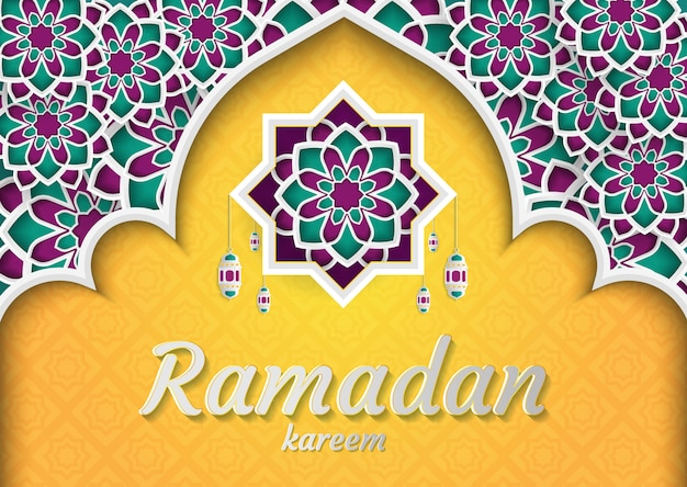 Ramadán kareem de diseño de invitaciones.