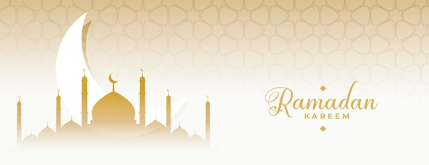Ramadán kareem eid luna y mezquita bandera islámica