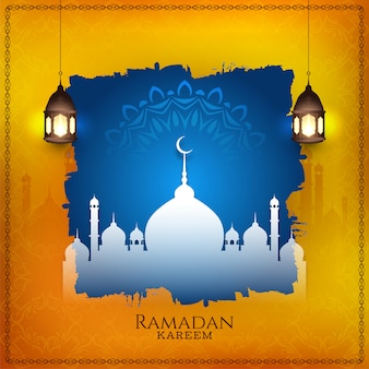 Ramadán kareem elegante fondo islámico