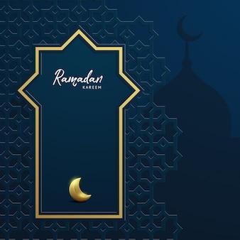 Ramadan kareem fondo con mezquita