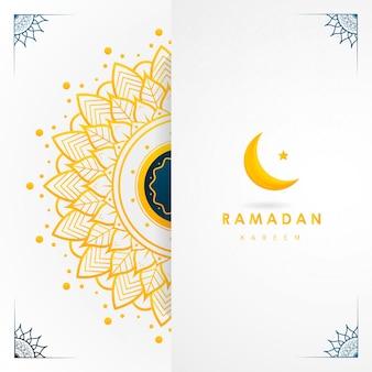Ramadan kareem hermosa tarjeta de felicitación. ilustración