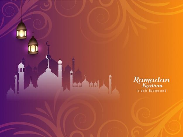 Ramadán kareem hermoso fondo islámico