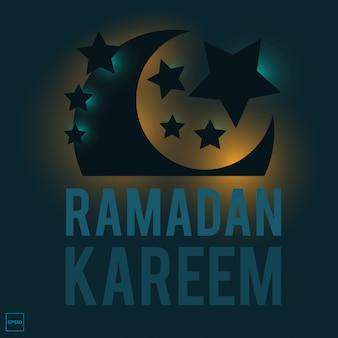 Ramadan kareem con imagen de ilustración islámica