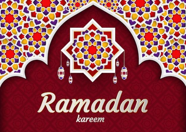 Ramadan kareem de invitaciones tarjeta