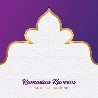 Ramadán kareem islámica de fondo
