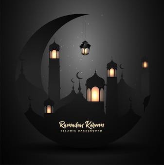 Ramadan kareem con linterna