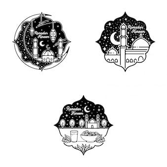 Ramadán kareem monoline design