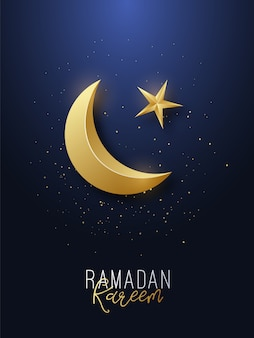 Ramadán kareem saludo banner.