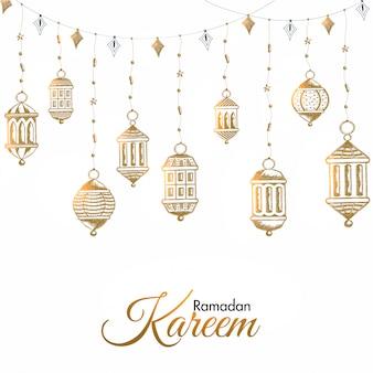 Ramadan mubarak concept.