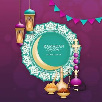 Ramadan mubarak, concepto del partido iftar.