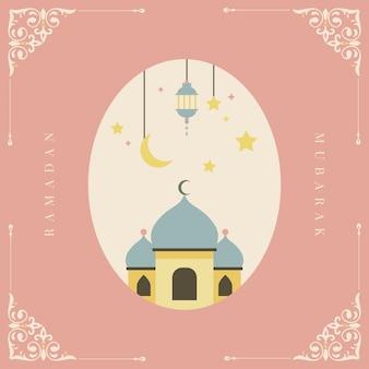 Ramadan mubarak tarjeta de diseño