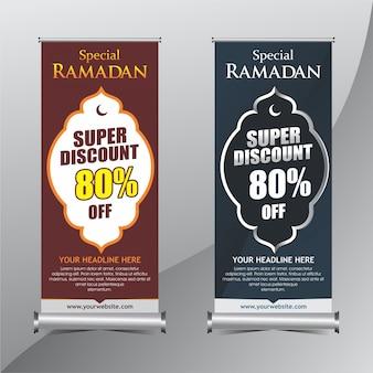 Ramadán de pie banner de promoción
