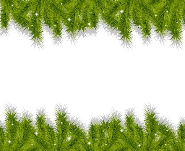 Ramas de los árboles de navidad fronteras fondo decorativo.