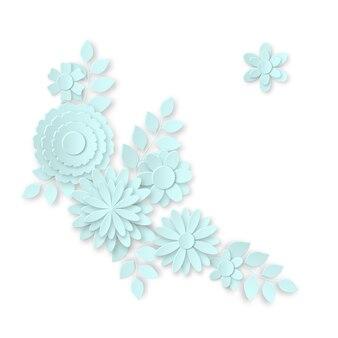 Ramo de flores en el estilo del arte en papel.