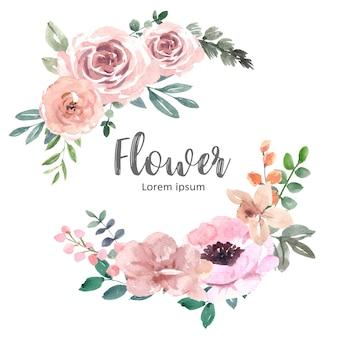 Ramo para decoración de portada única, flores de trazo exótico