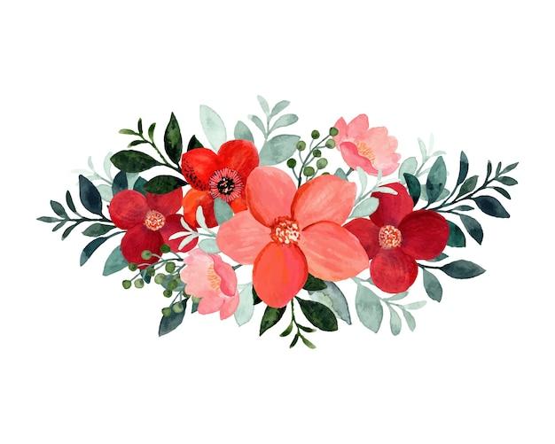 Ramo floral con acuarela