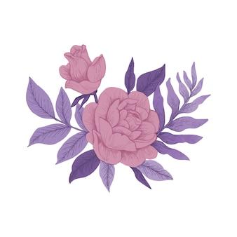 Ramo floral colorido vintage
