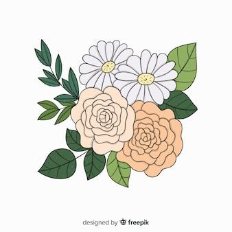 Ramo de flores botánicas vintage