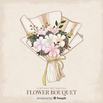 Ramo de flores botánico vintage