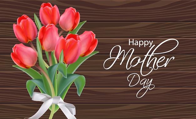 Ramo de flores de tulipán del día de la madre