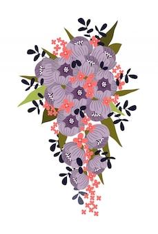 Ramo para la novia de flores abstractas.