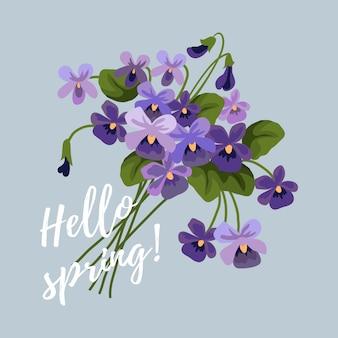 Ramo primaveral de violeta lila