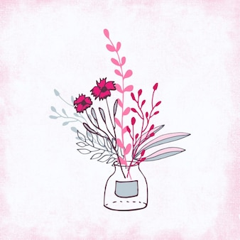 Ramo rosa hecho a mano