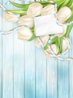 Ramo de tulipanes hermosos.