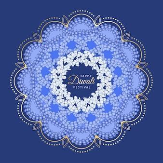 Rangoli de flores para diwali o pongal festival hecho con flores