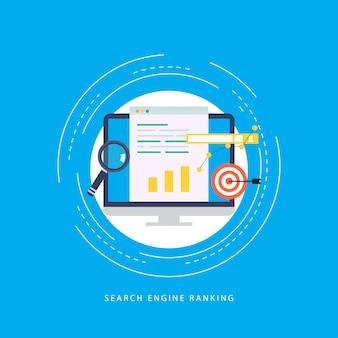 Ranking en línea, proceso de palabras clave de seo