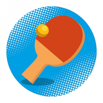 Raqueta de ping pong y pelota