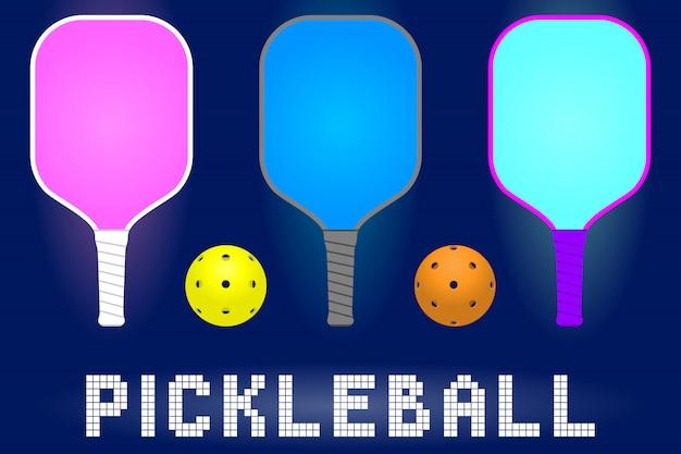 Raquetas de paletas de pickleball a