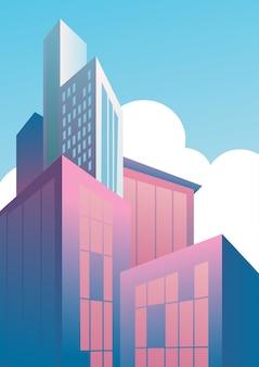 Rascacielos modernos en el distrito financiero