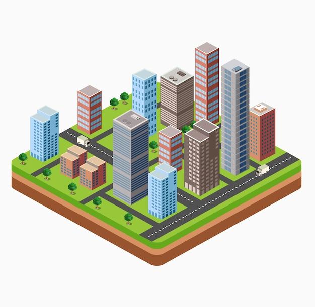 Rascacielos, vivienda urbana de gran altura. conjunto de objetos para el diseño urbano.