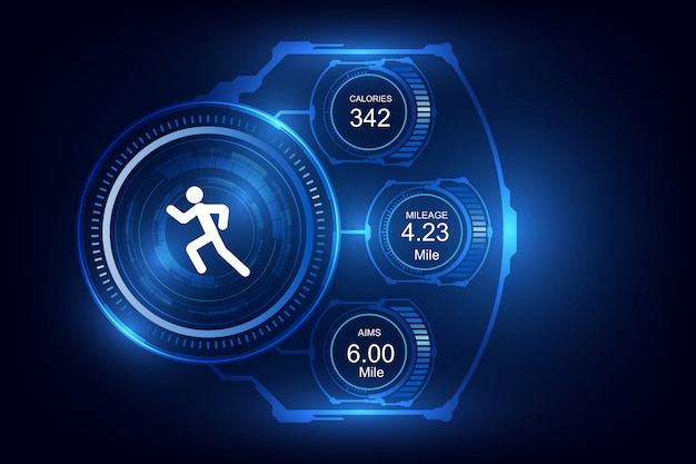 Rastreador de fitness con tecnología portátil