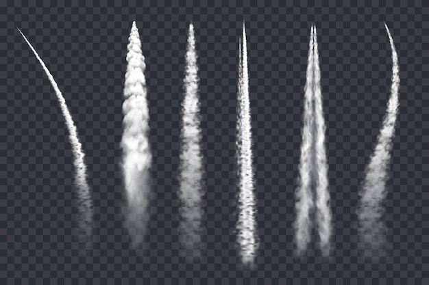 Rastro de humo de avión, nubes de chorro de aire