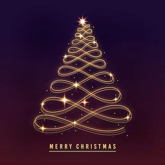 Rastro de luz árbol de navidad