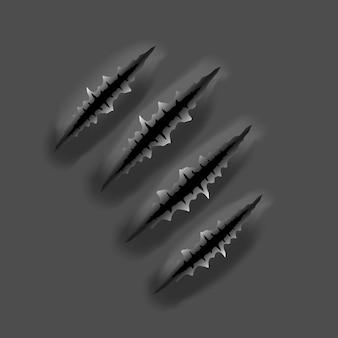 Rastros de garras de monstruos