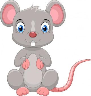 Ratón lindo de dibujos animados