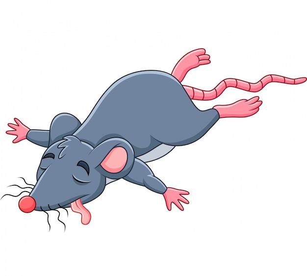 Ratón muerto de dibujos animados